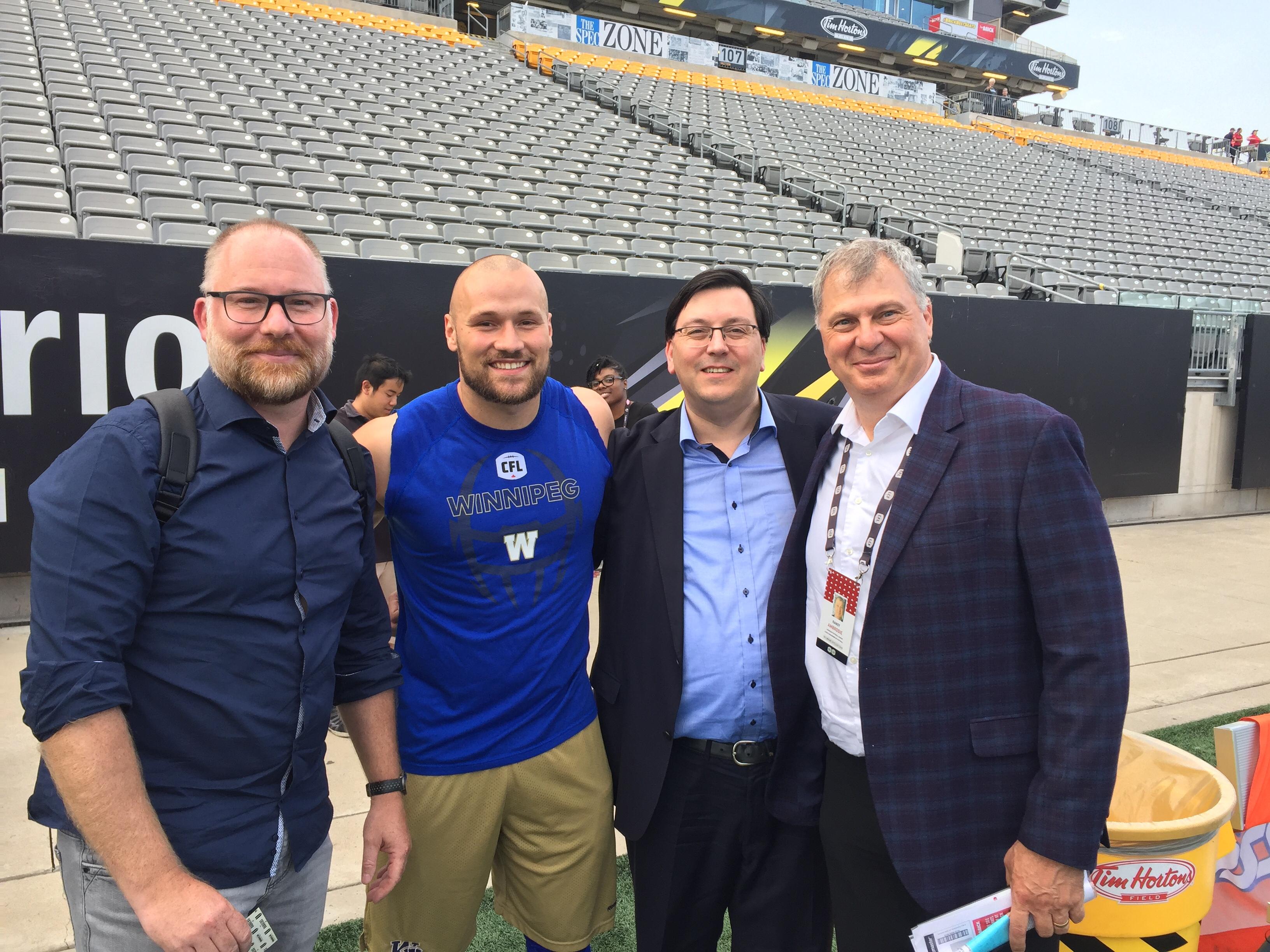 GFL & CFL: Besuch im Training der Winnipeg Blue Bombers