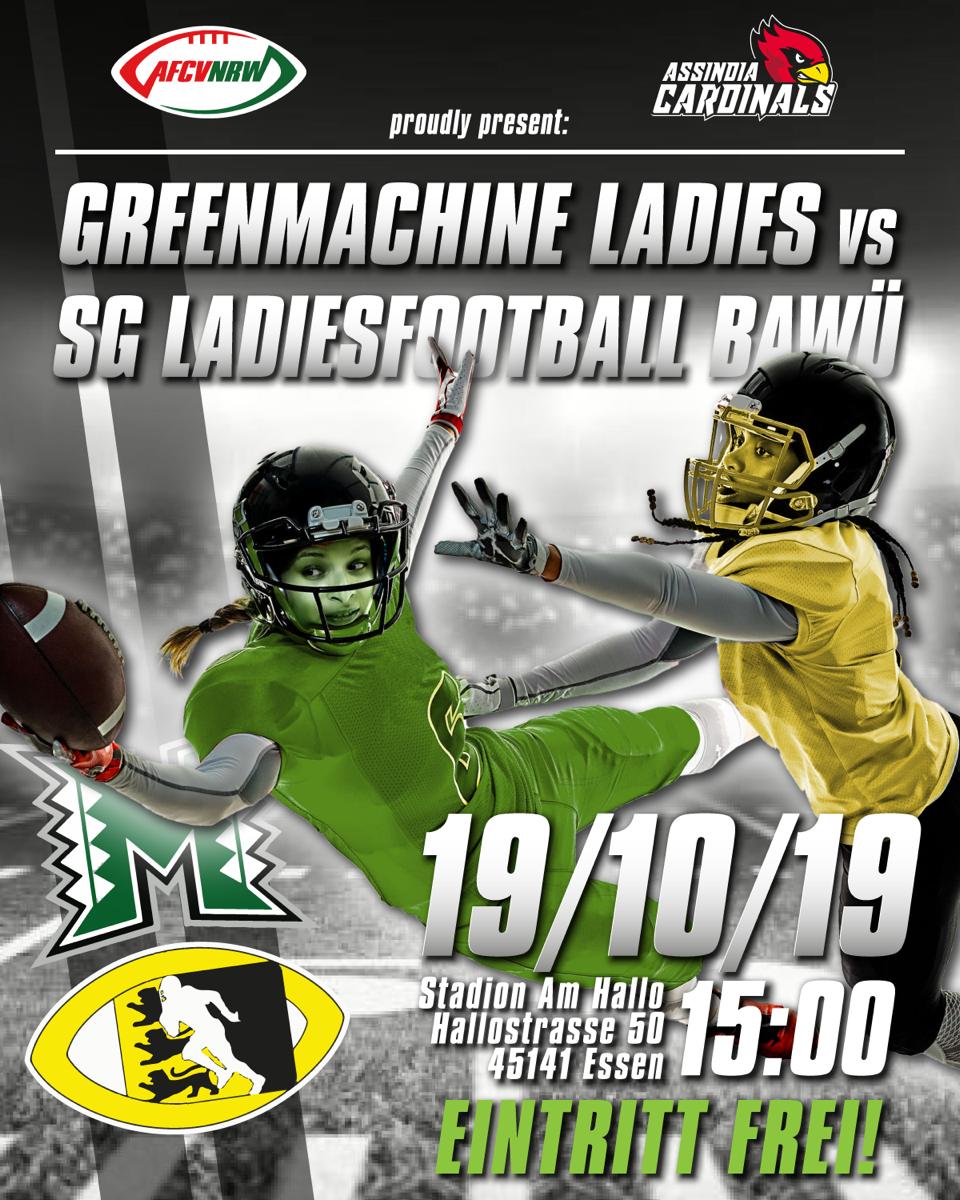 GreenMachine Ladies vs. SG Ladiesfootball Ba-Wü